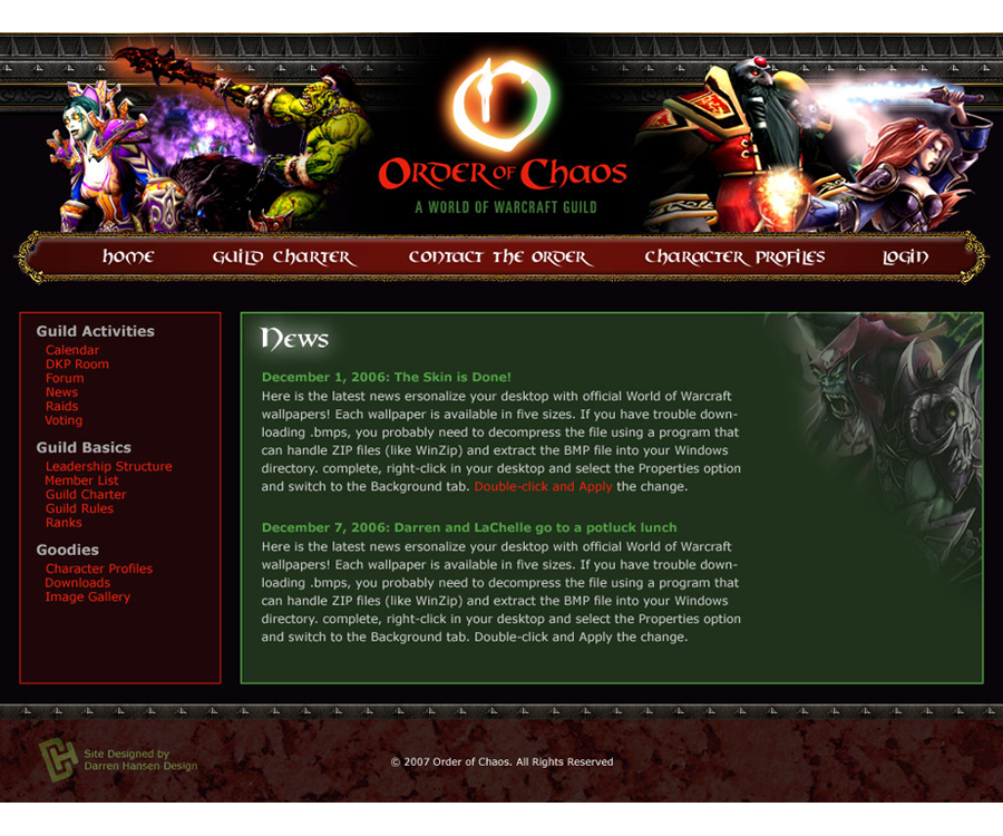 Order of Chaos Guild Website